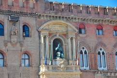 Bologna, Papst Gregor XIII. an der Fassade Palazzo d'Accursio